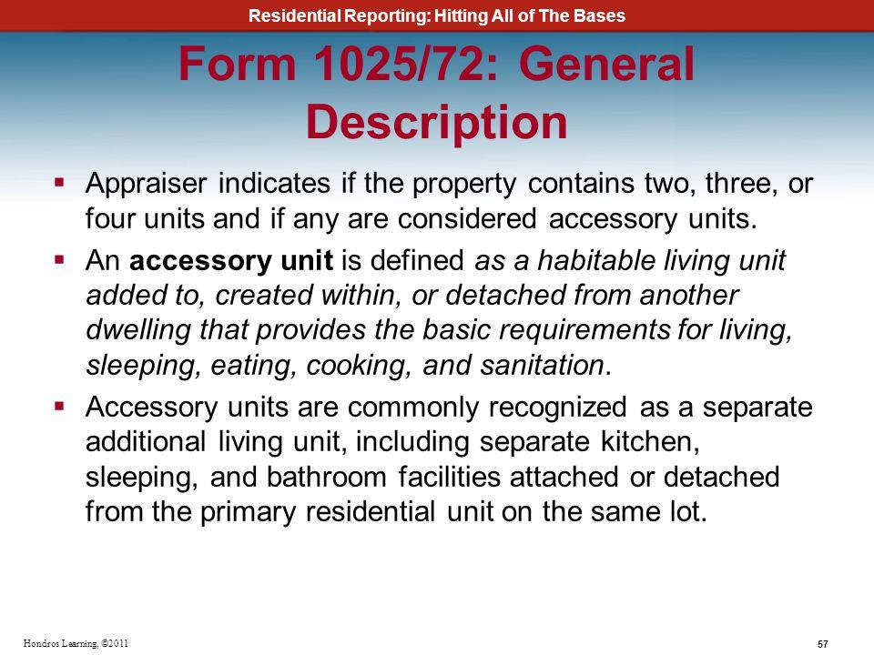 Form 1025/72: General Description