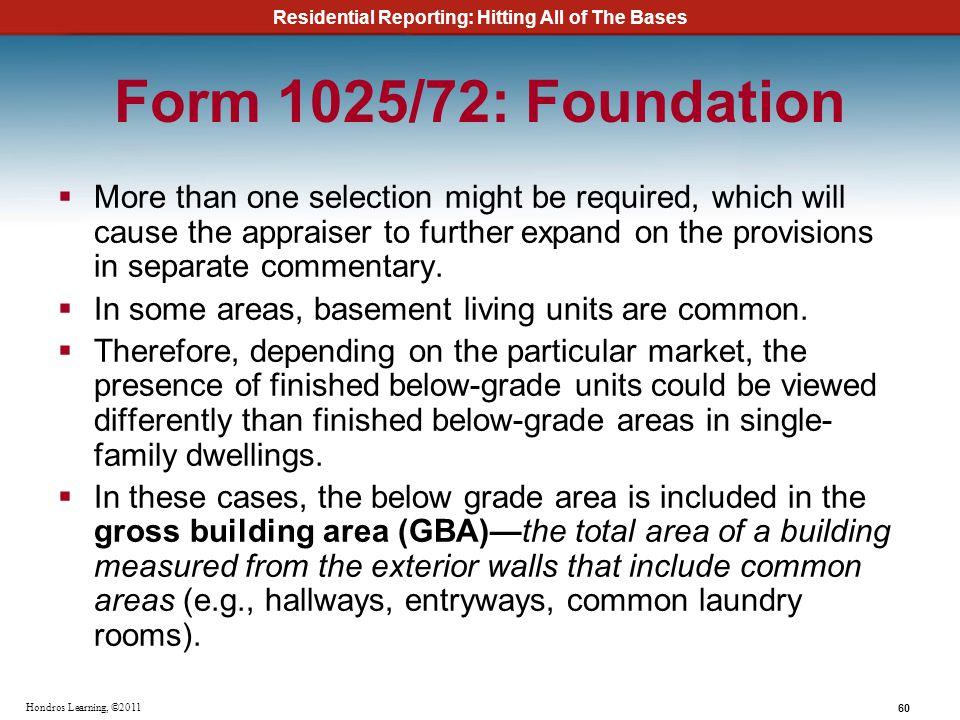 Form 1025/72: Foundation