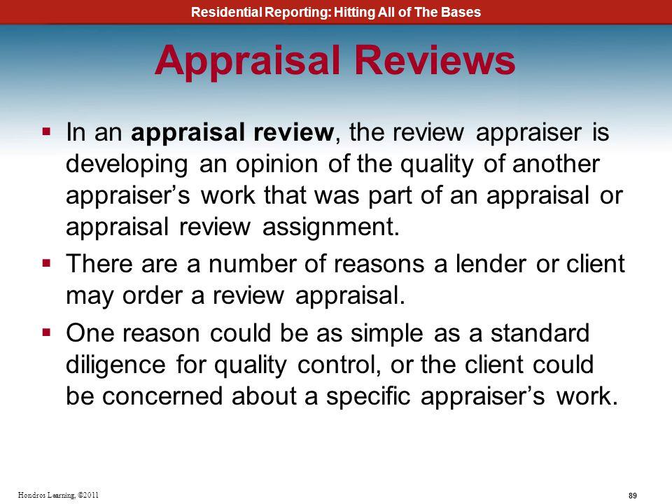 Appraisal Reviews