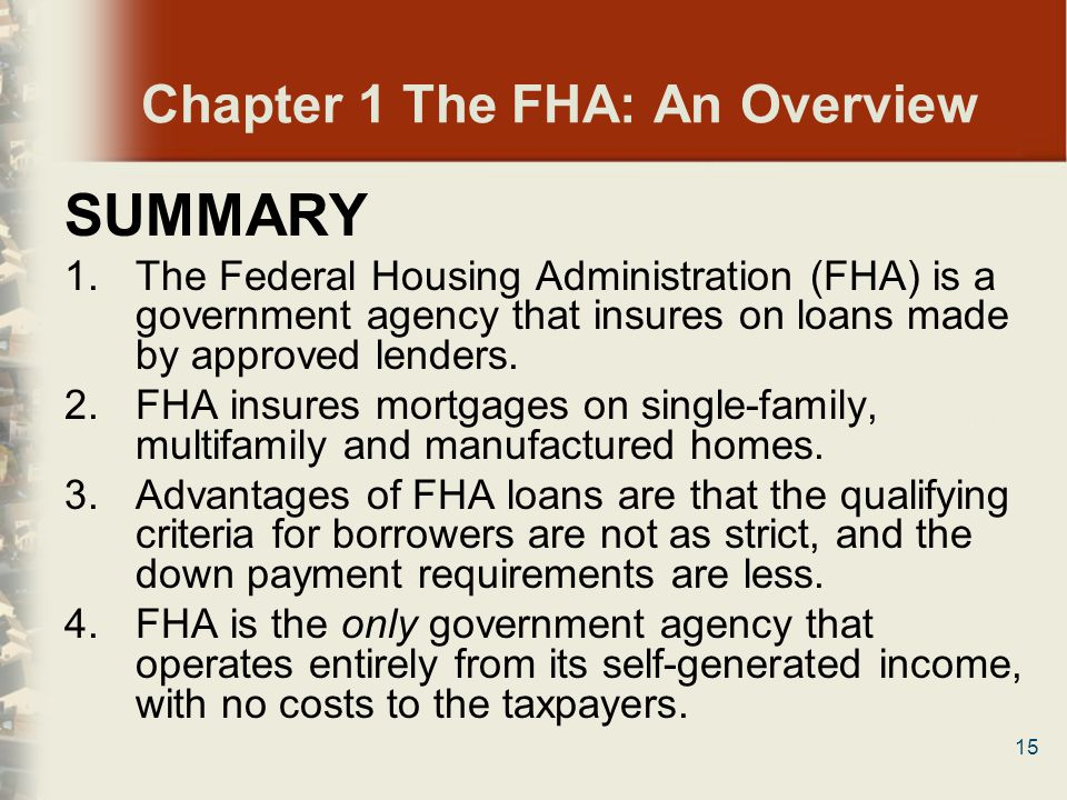 Chapter 1 The FHA: An Overview