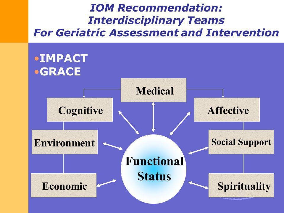 Functional Status IMPACT GRACE Spirituality Affective Medical