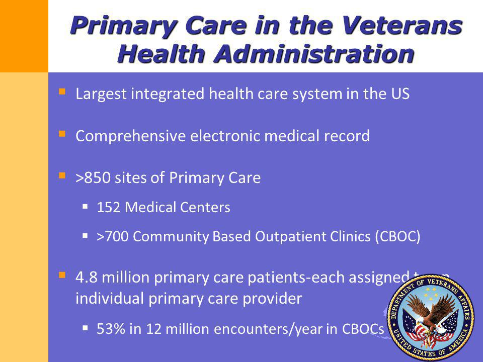 Primary Care in the Veterans Health Administration