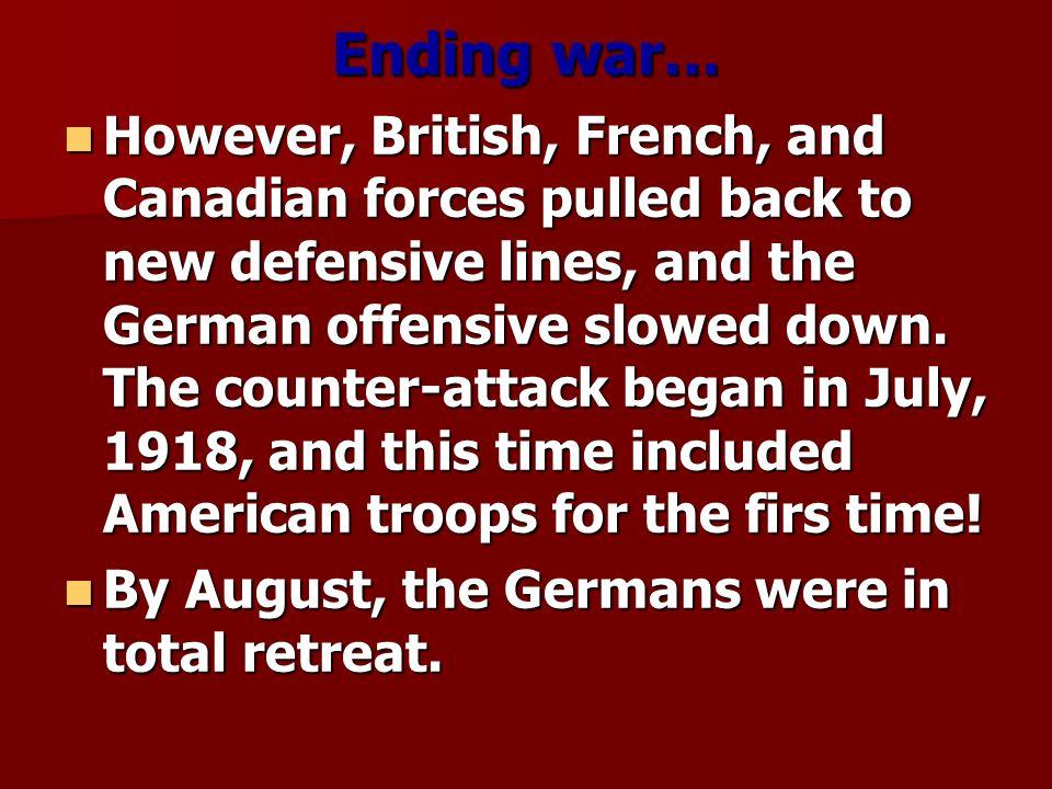Ending war…