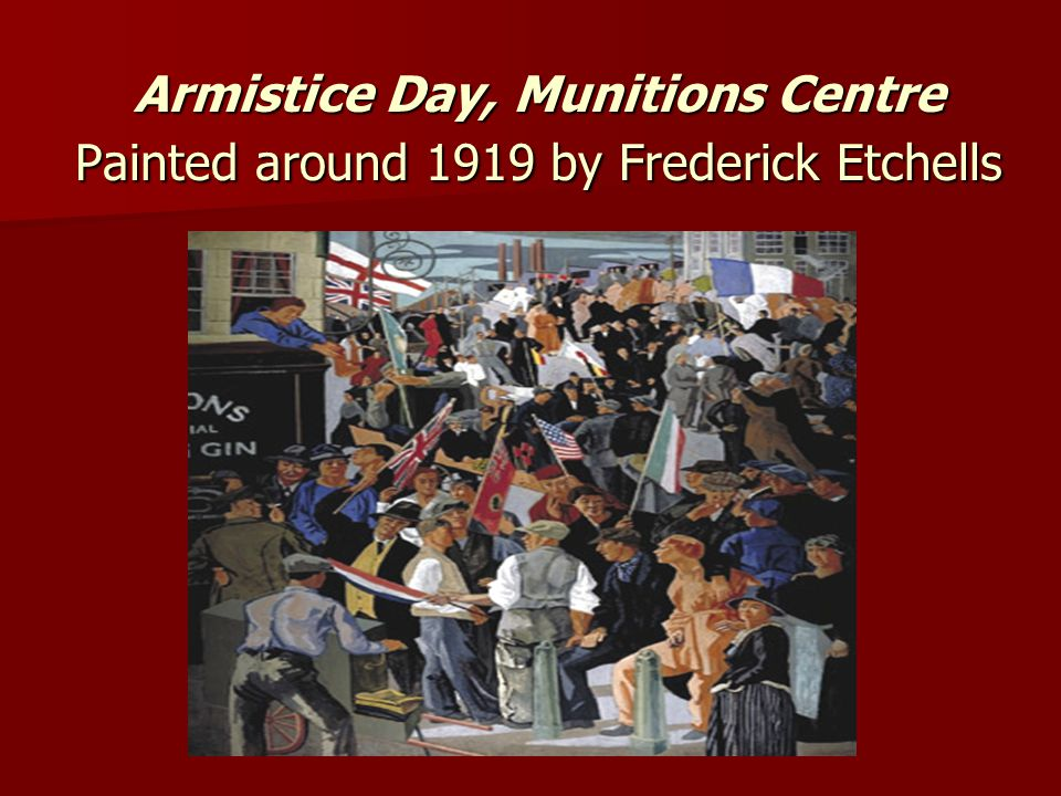 Armistice Day, Munitions Centre Painted around 1919 by Frederick Etchells