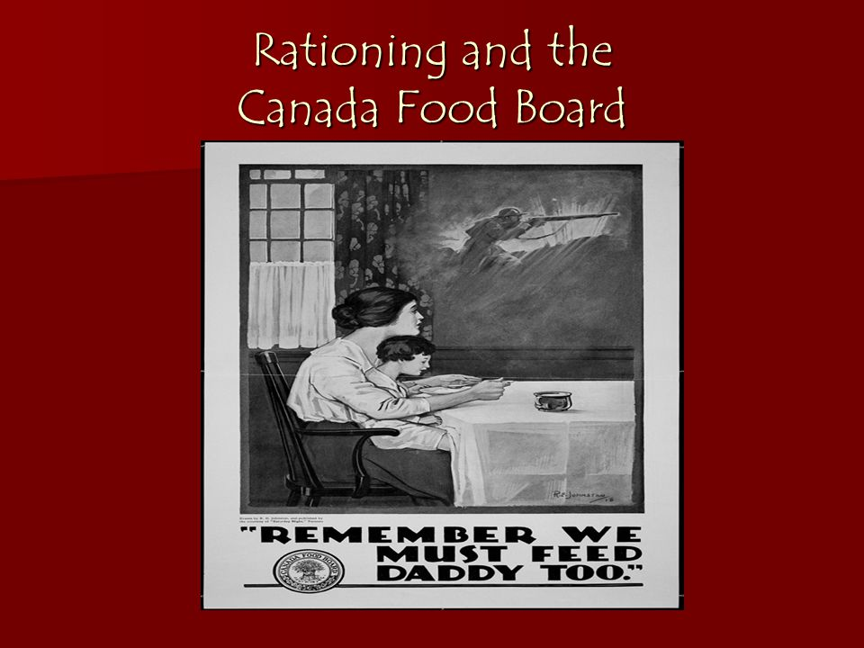 Rationing and the Canada Food Board