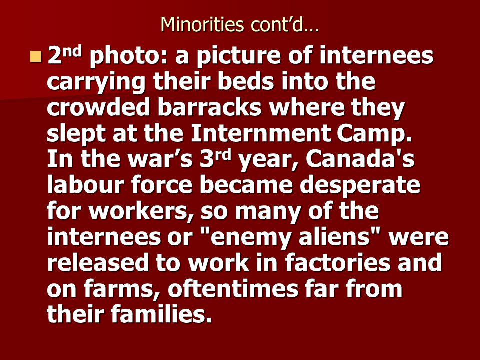 Minorities cont'd…
