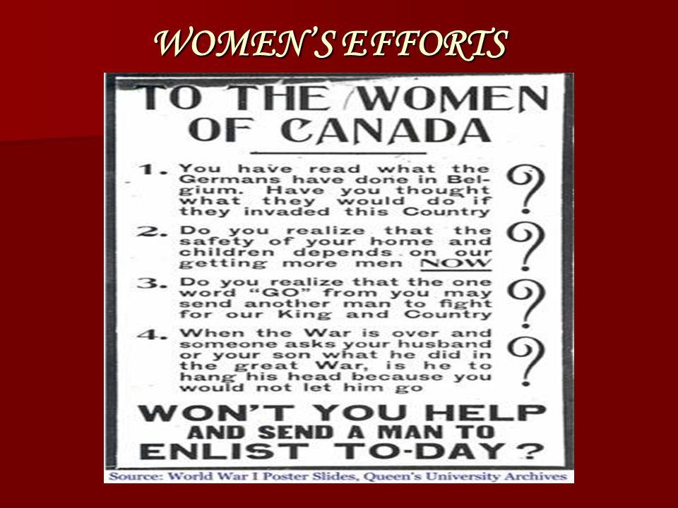 WOMEN'S EFFORTS