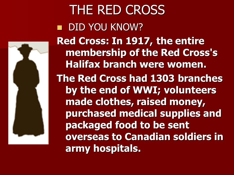 THE RED CROSS DID YOU KNOW