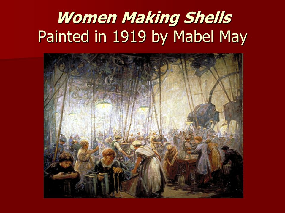 Women Making Shells Painted in 1919 by Mabel May