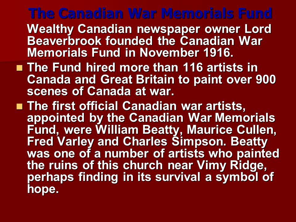 The Canadian War Memorials Fund