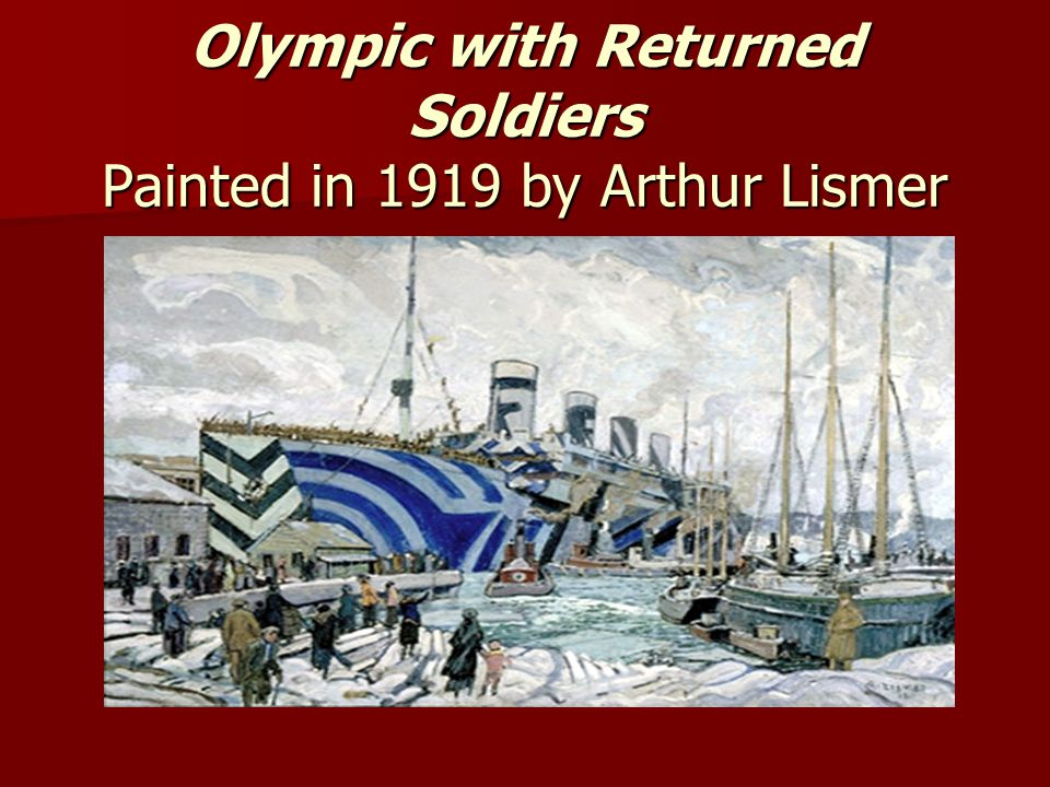 Olympic with Returned Soldiers Painted in 1919 by Arthur Lismer