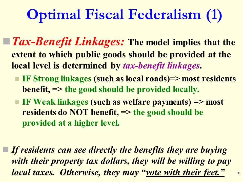 Optimal Fiscal Federalism (1)