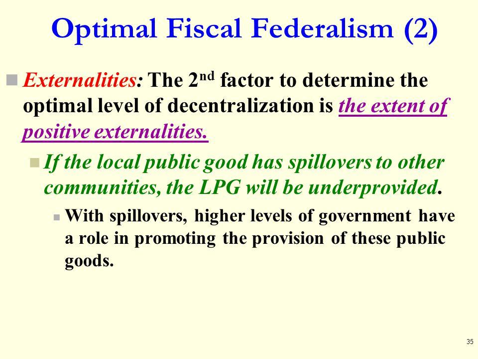 Optimal Fiscal Federalism (2)