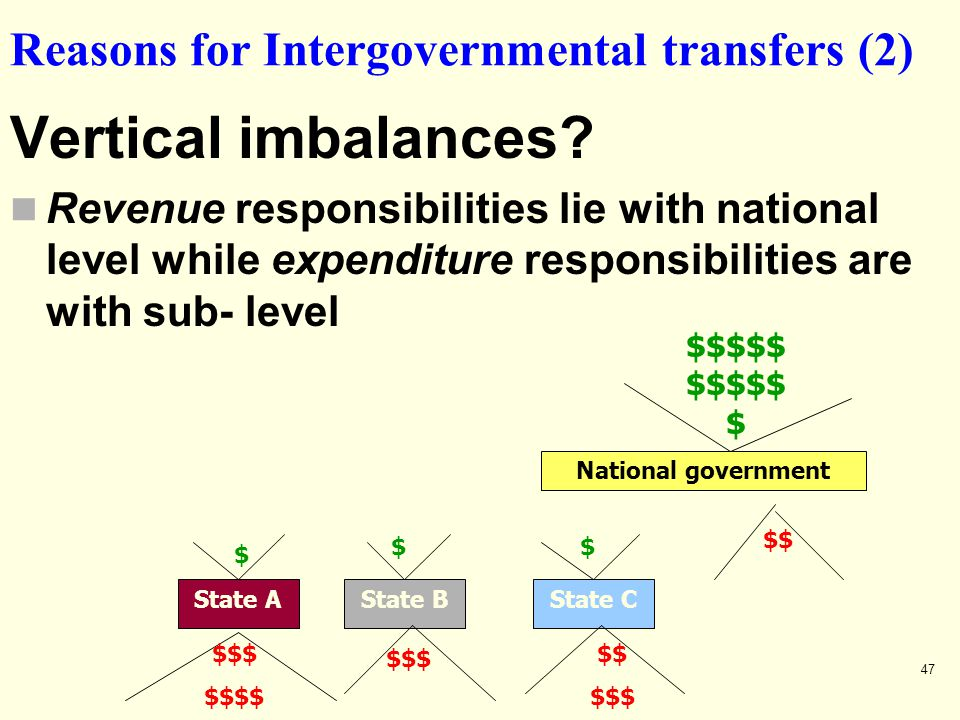 Reasons for Intergovernmental transfers (2)