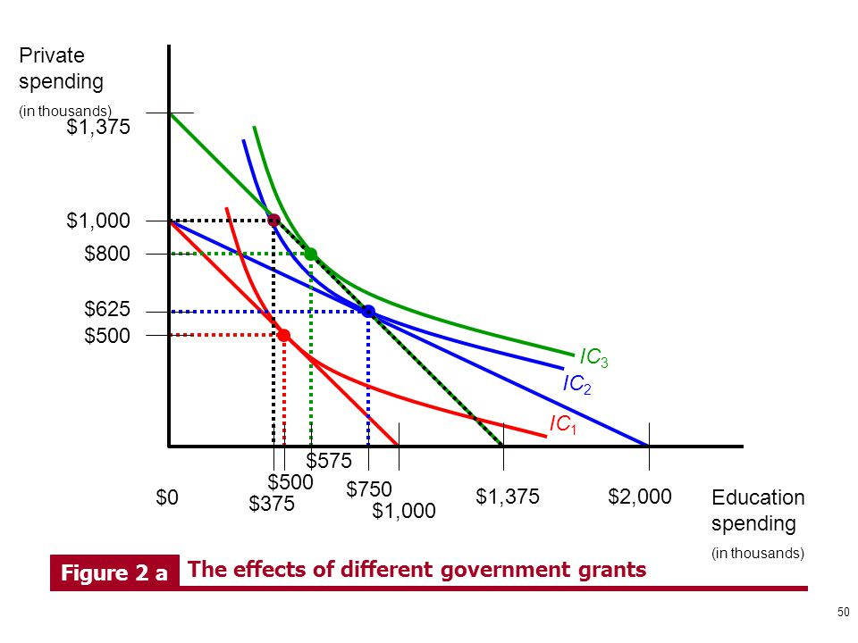 The effects of different government grants