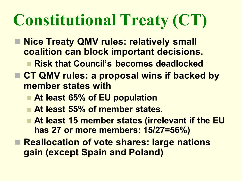 Constitutional Treaty (CT)