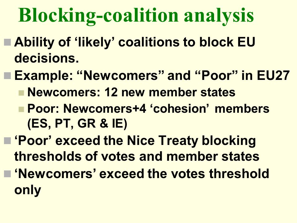 Blocking-coalition analysis