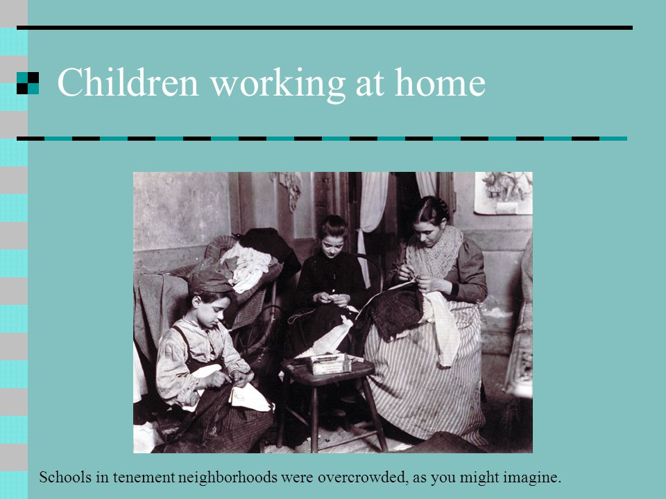Children working at home