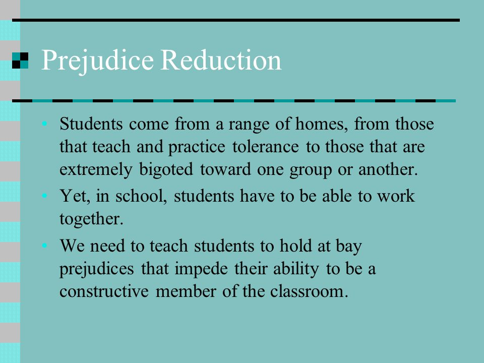 Prejudice Reduction