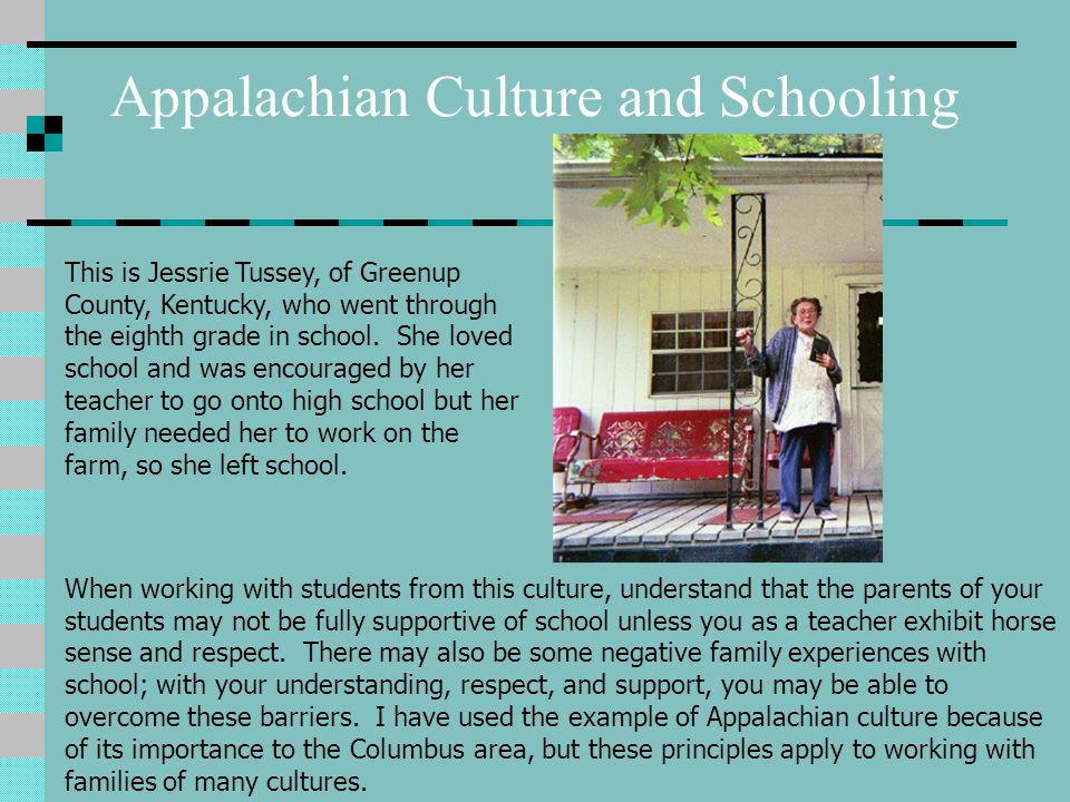 Appalachian Culture and Schooling