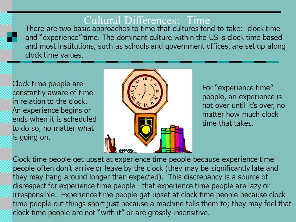 Cultural Differences: Time