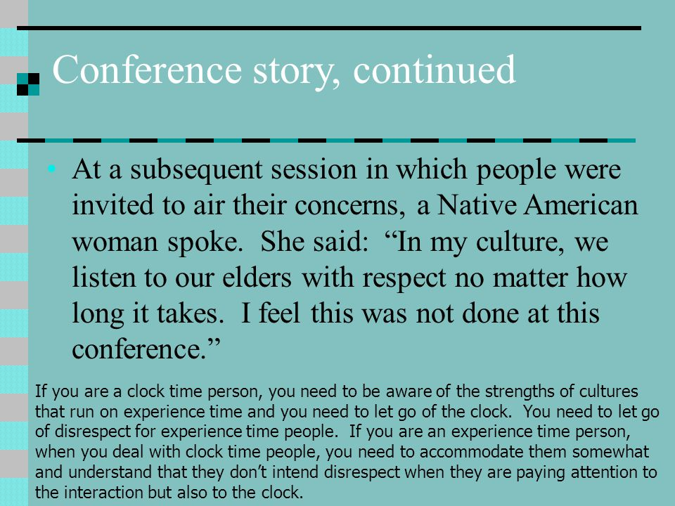 Conference story, continued