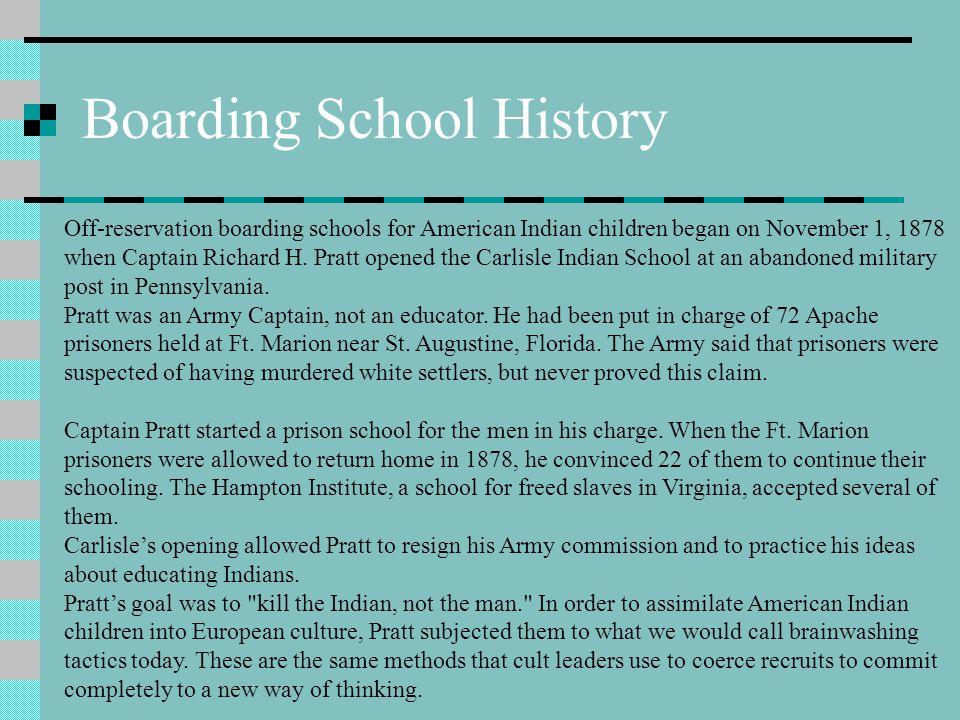 Boarding School History