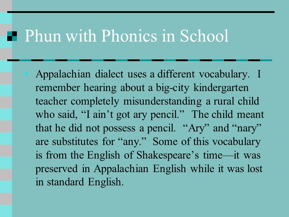 Phun with Phonics in School