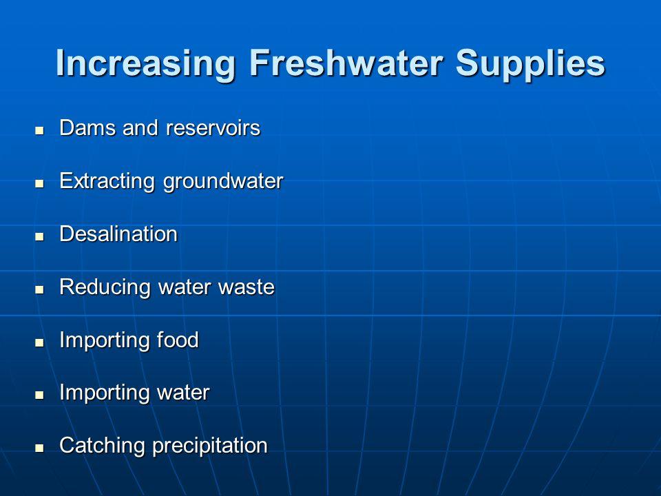 Increasing Freshwater Supplies