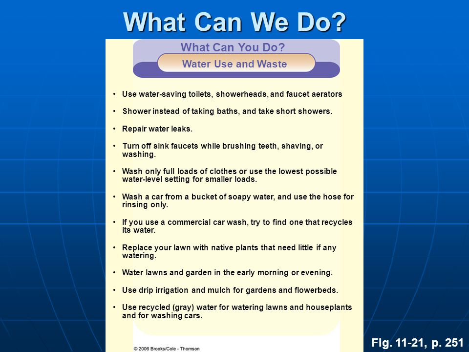 What Can We Do What Can You Do Fig. 11-21, p. 251