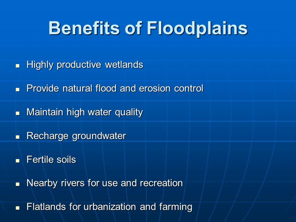 Benefits of Floodplains