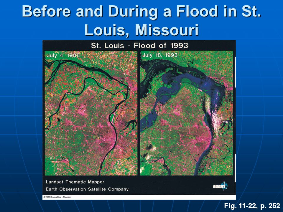 Before and During a Flood in St. Louis, Missouri