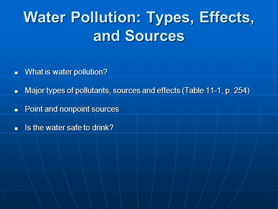 Water Pollution: Types, Effects, and Sources