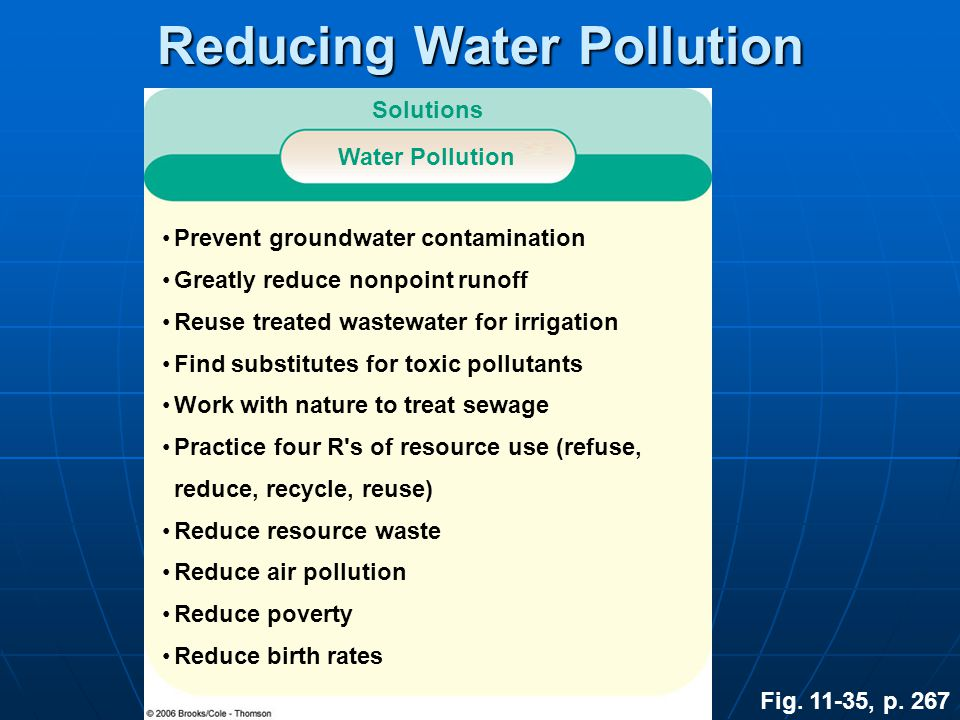 Reducing Water Pollution