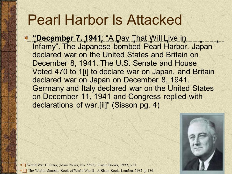 Pearl Harbor Is Attacked