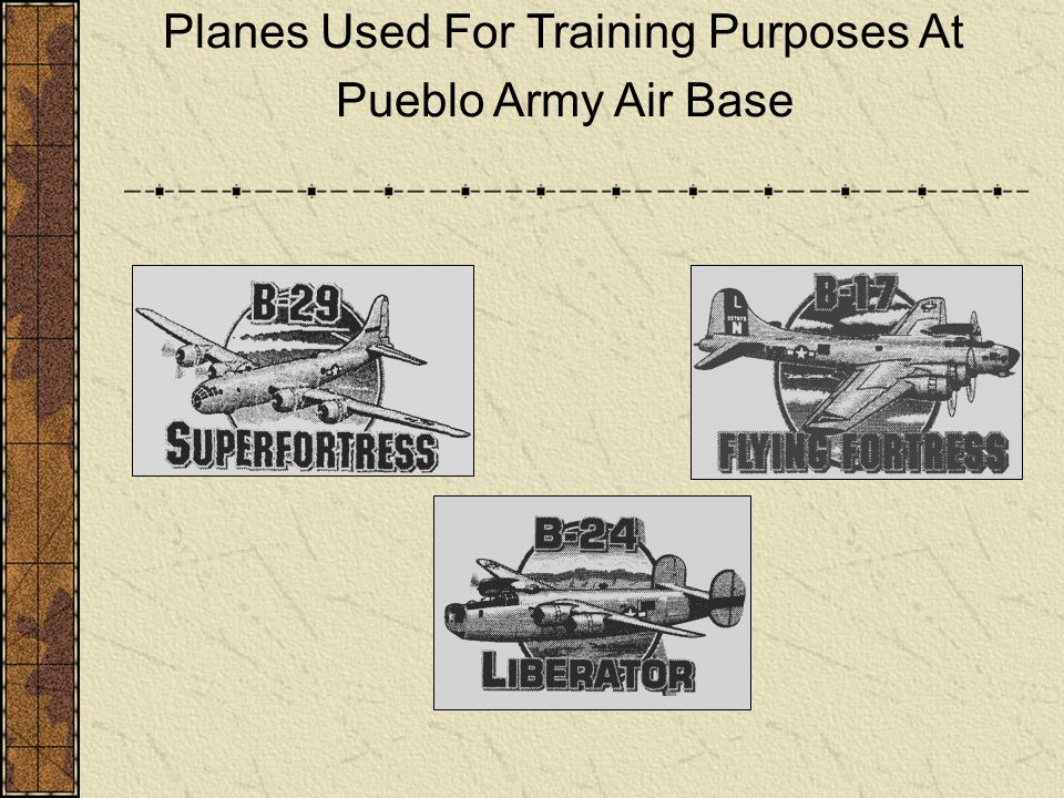 Planes Used For Training Purposes At