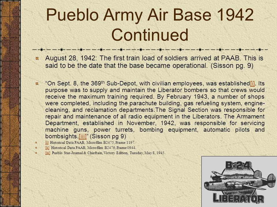 Pueblo Army Air Base 1942 Continued