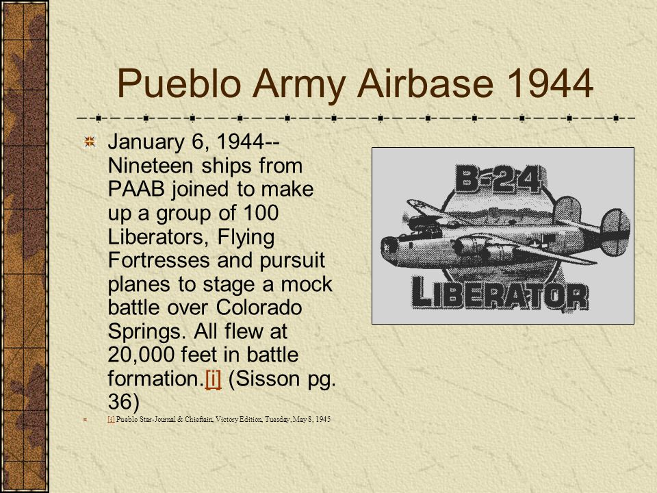 Pueblo Army Airbase 1944