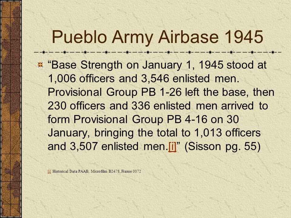 Pueblo Army Airbase 1945
