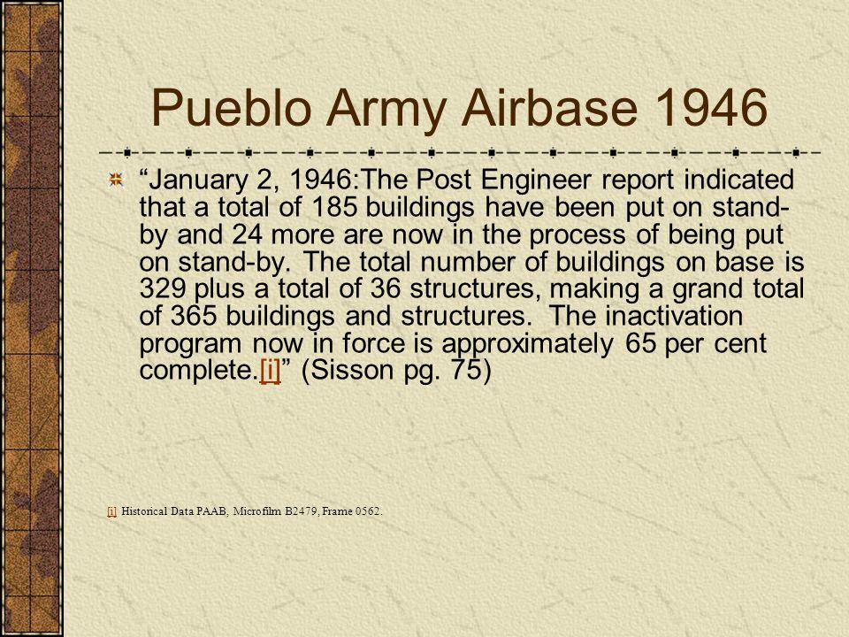 Pueblo Army Airbase 1946