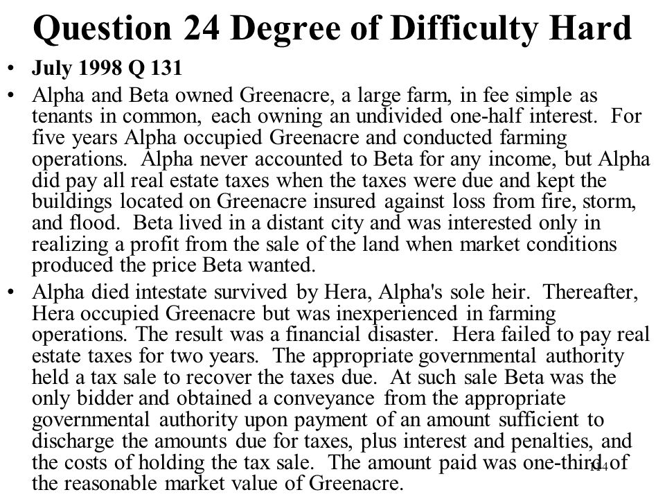 Question 24 Degree of Difficulty Hard