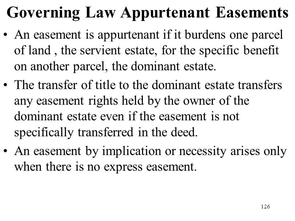Governing Law Appurtenant Easements