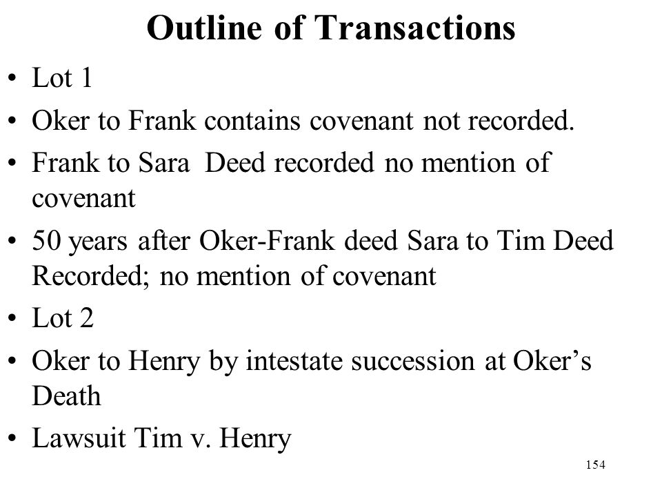 Outline of Transactions