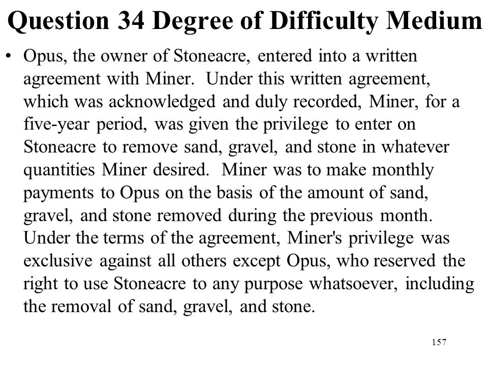Question 34 Degree of Difficulty Medium