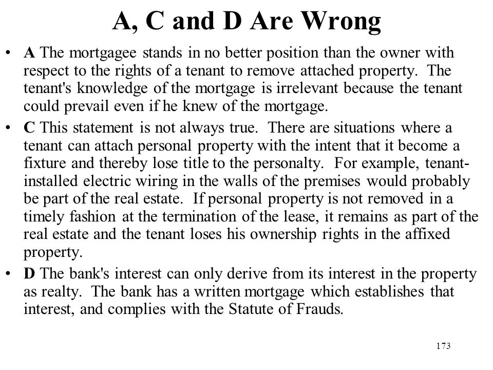 A, C and D Are Wrong