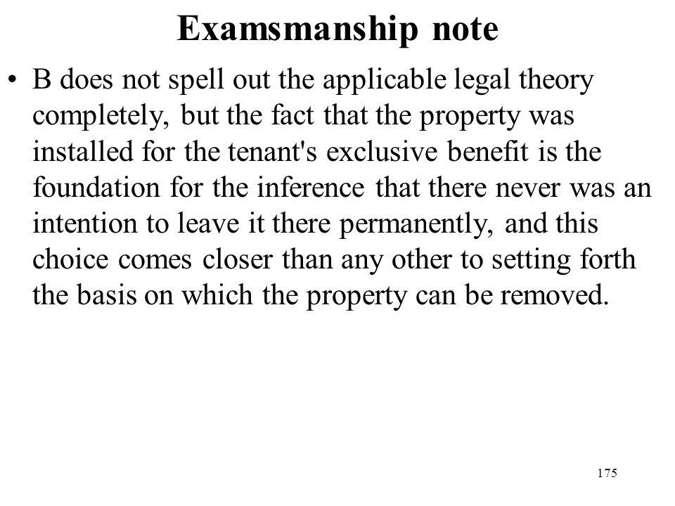 Examsmanship note