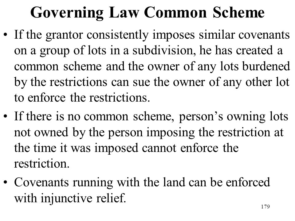 Governing Law Common Scheme