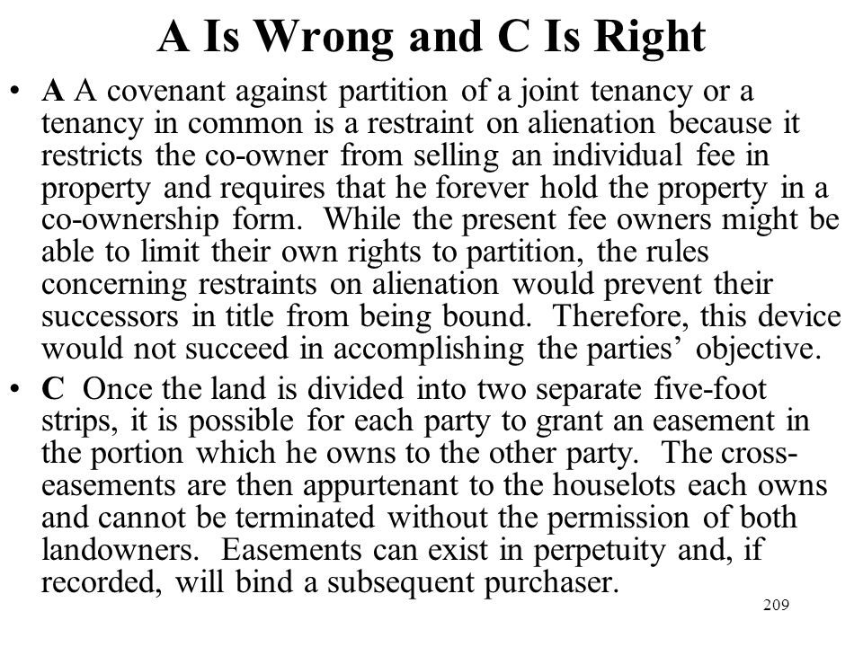 A Is Wrong and C Is Right