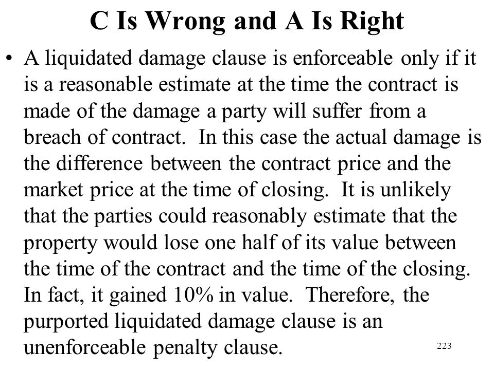 C Is Wrong and A Is Right