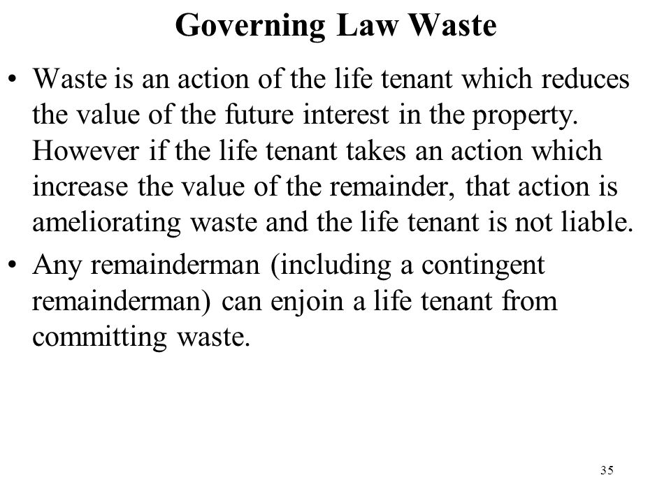 Governing Law Waste